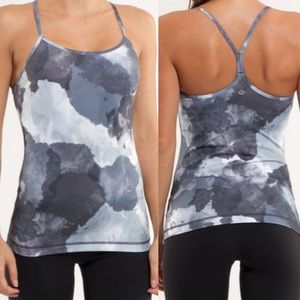 Lululemon Power Y Athletic Yoga Tank: White Coal